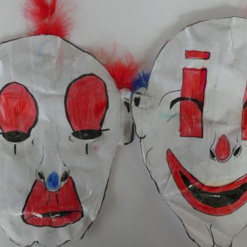 Clown mask - 8 years old