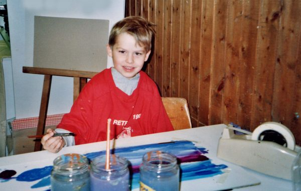 Emanuel, 5 years old, art studio