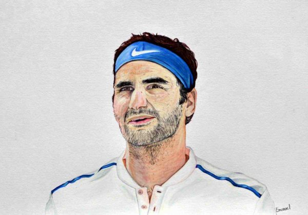 Roger Federer - drawn by emanuel schweizer