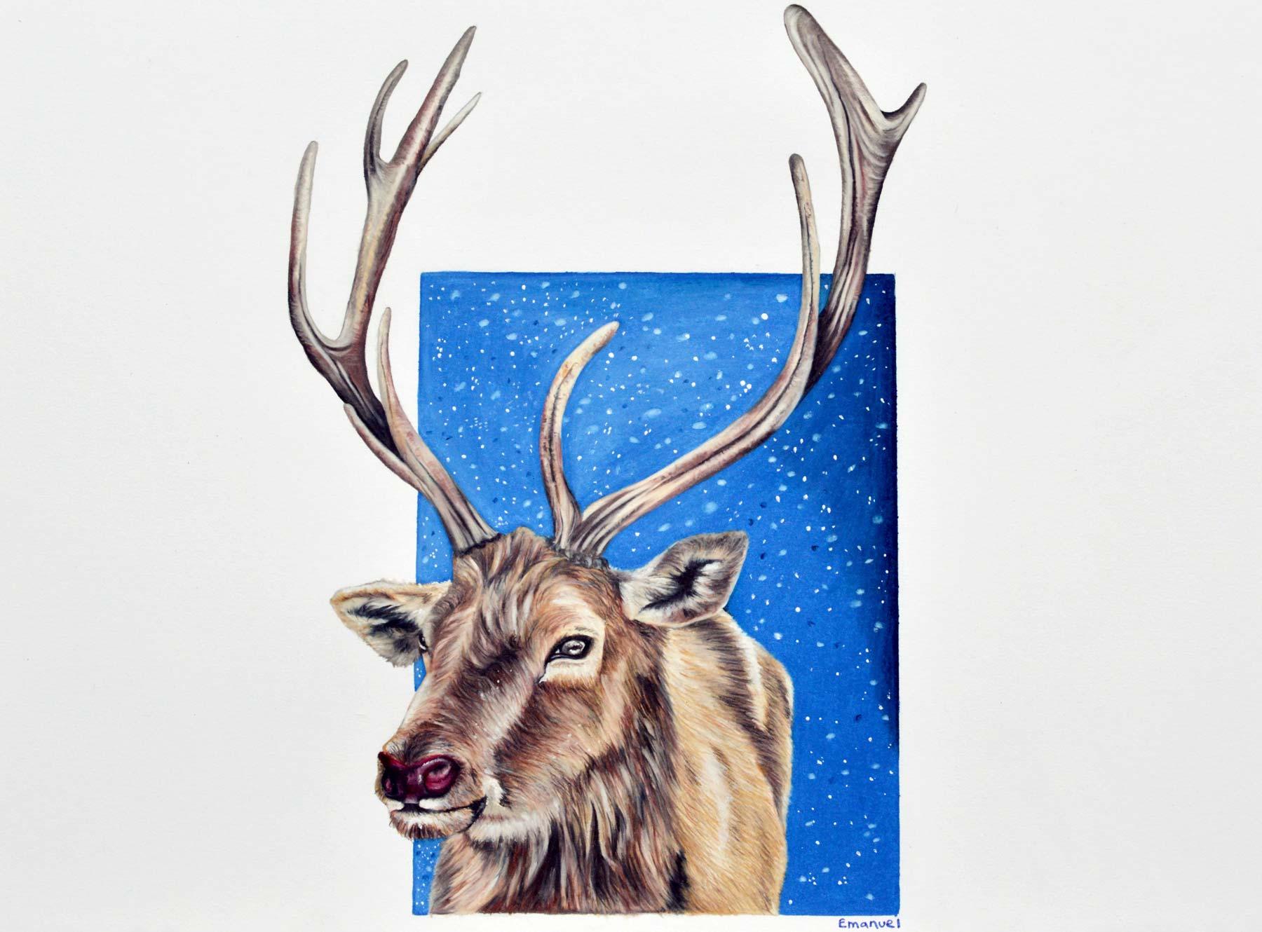 rednosed Rudolph by emanuel schweizer, artist