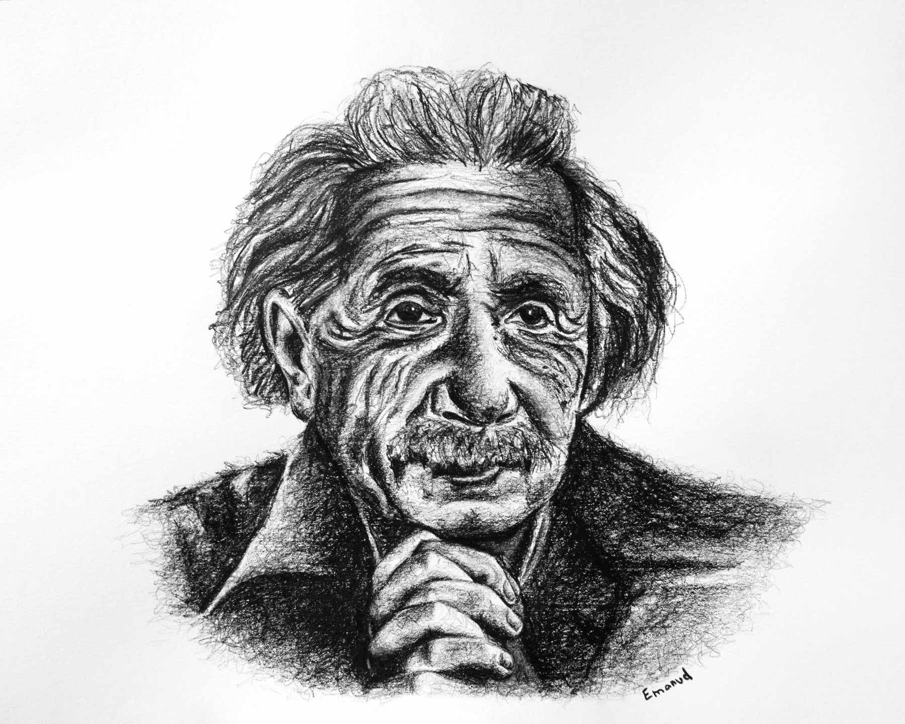 Albert Einstein interpreted by emanuel schweizer