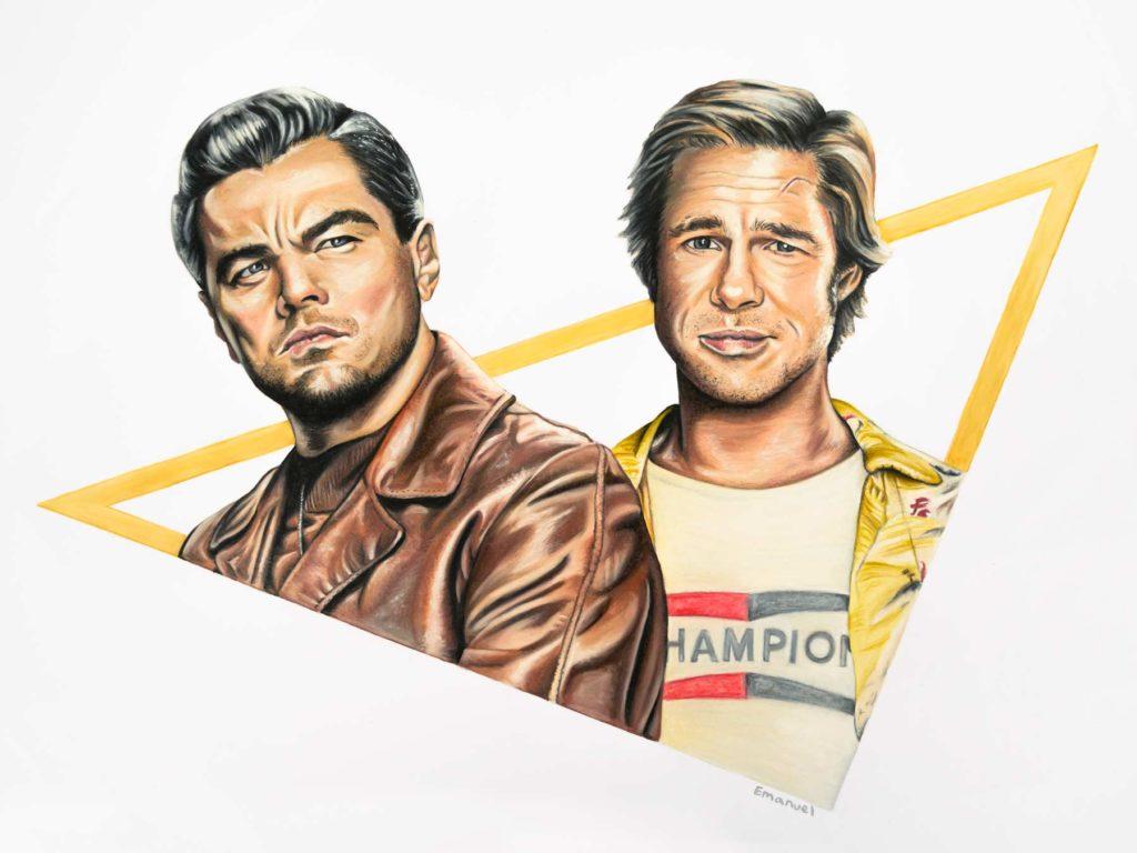 Leonardo DiCaprio & Brad Pitt by emanuel schweizer