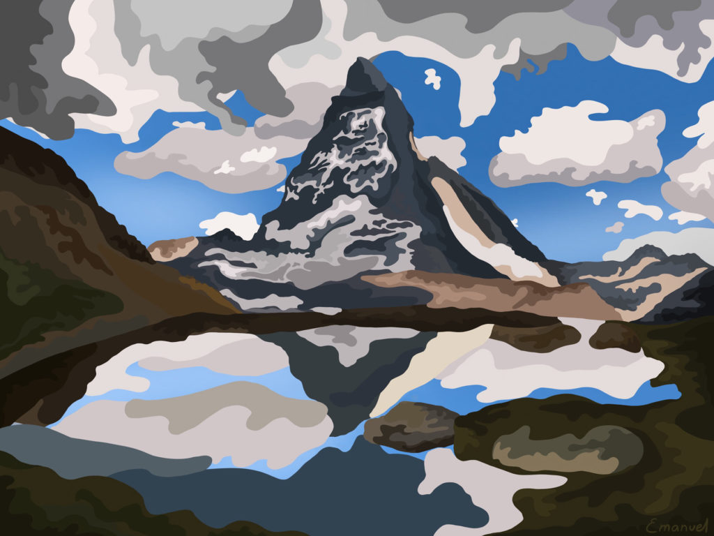 Illustration of the majestic Matterhorn by emanuel schweizer