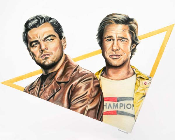 Leonardo and Brad by emanuel schweizer